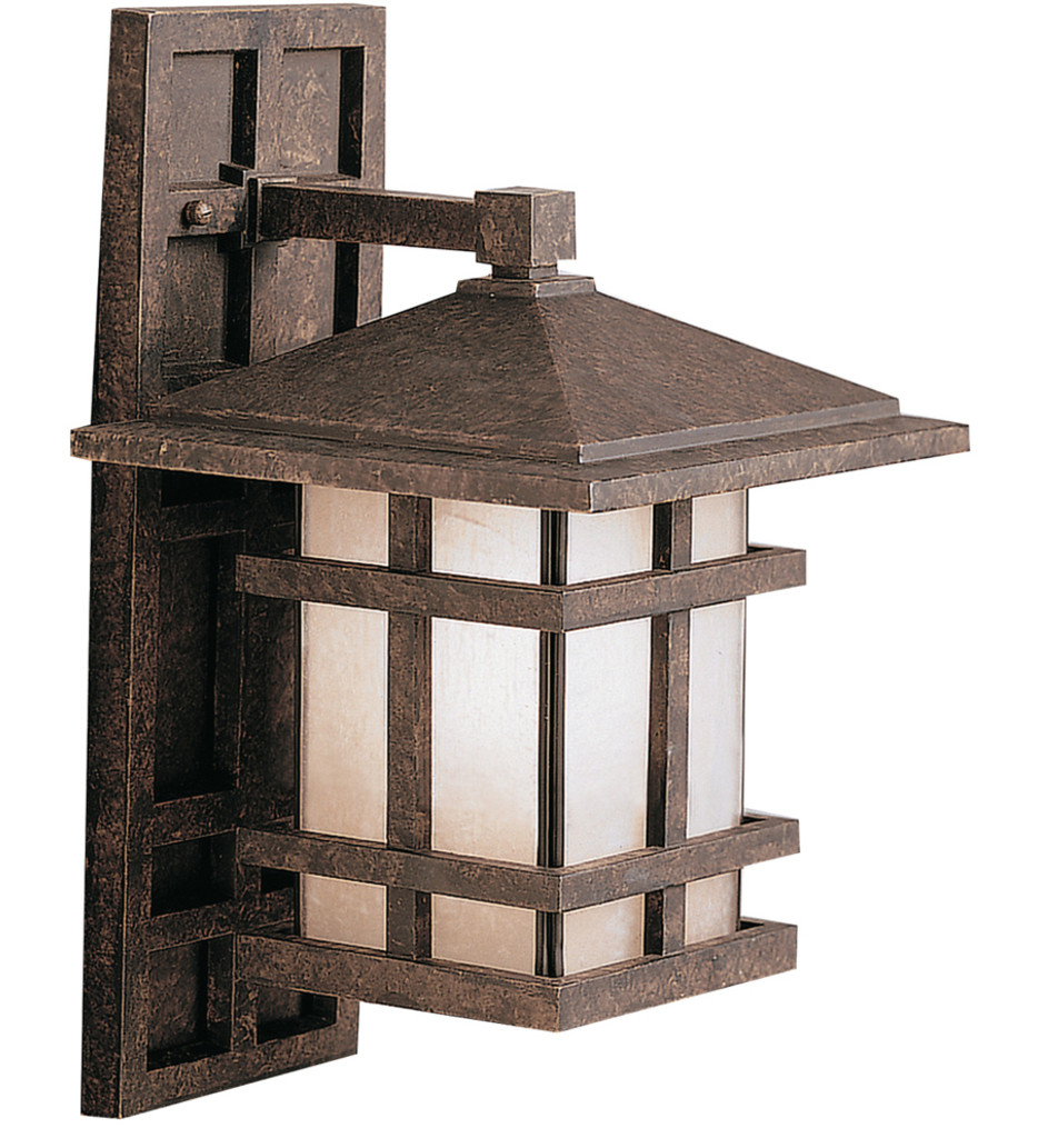 Kichler - 9130AGZ - Cross Creek Aged Bronze 9 Inch 1 Light Outdoor Wall Sconce