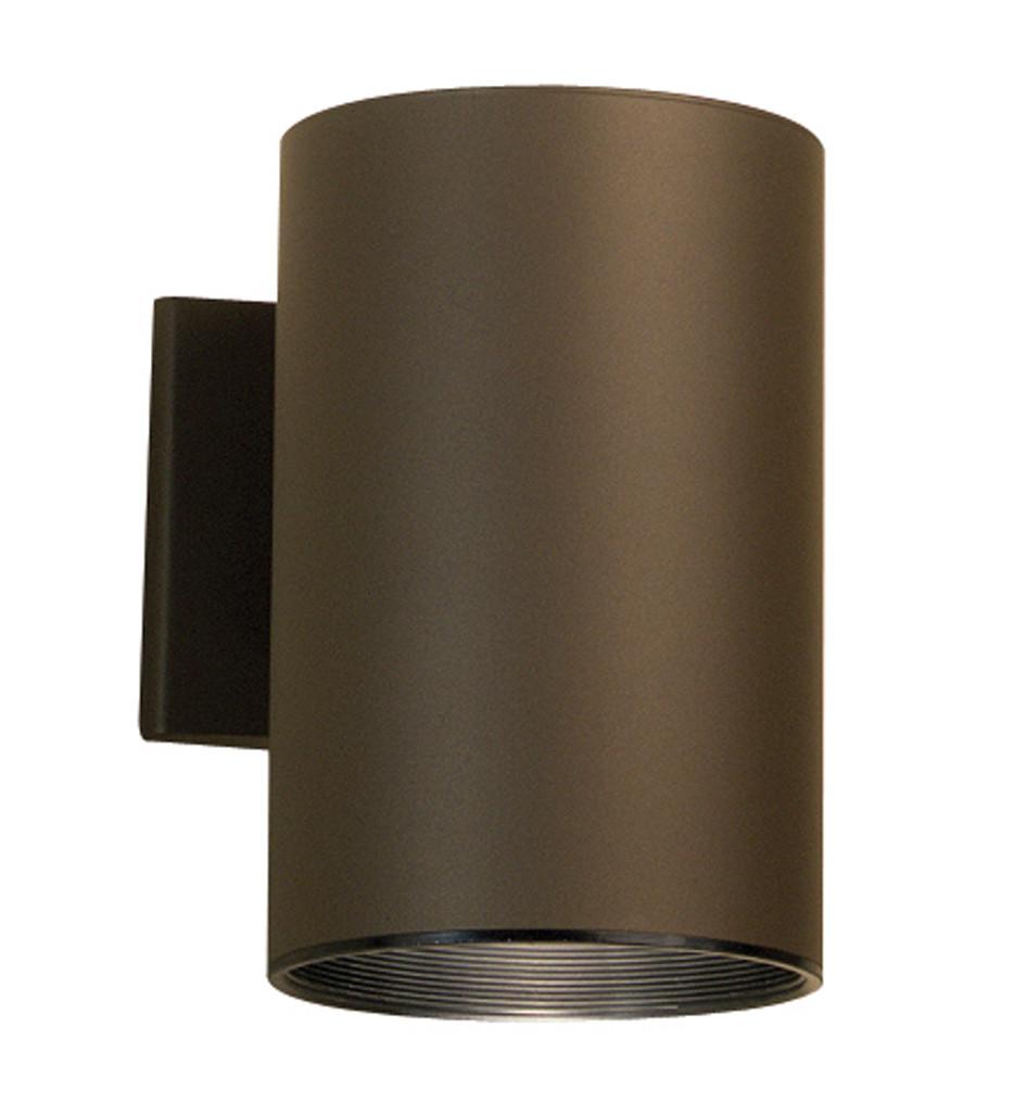 Kichler - 9236AZ - Builder Architectural Bronze 6 Inch 1 Light Outdoor Wall Sconce