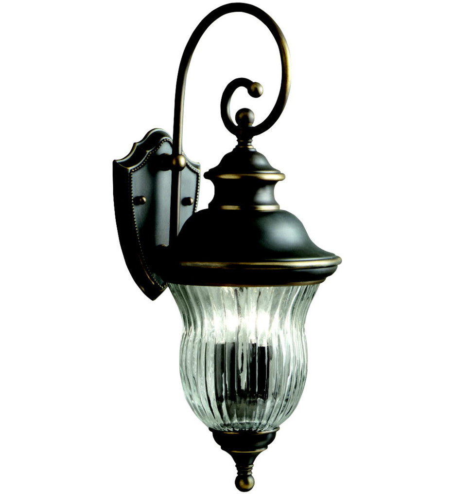 Kichler - 9452OZ - Sausalito Olde Bronze 9.5 Inch 3 Light Outdoor Wall Sconce