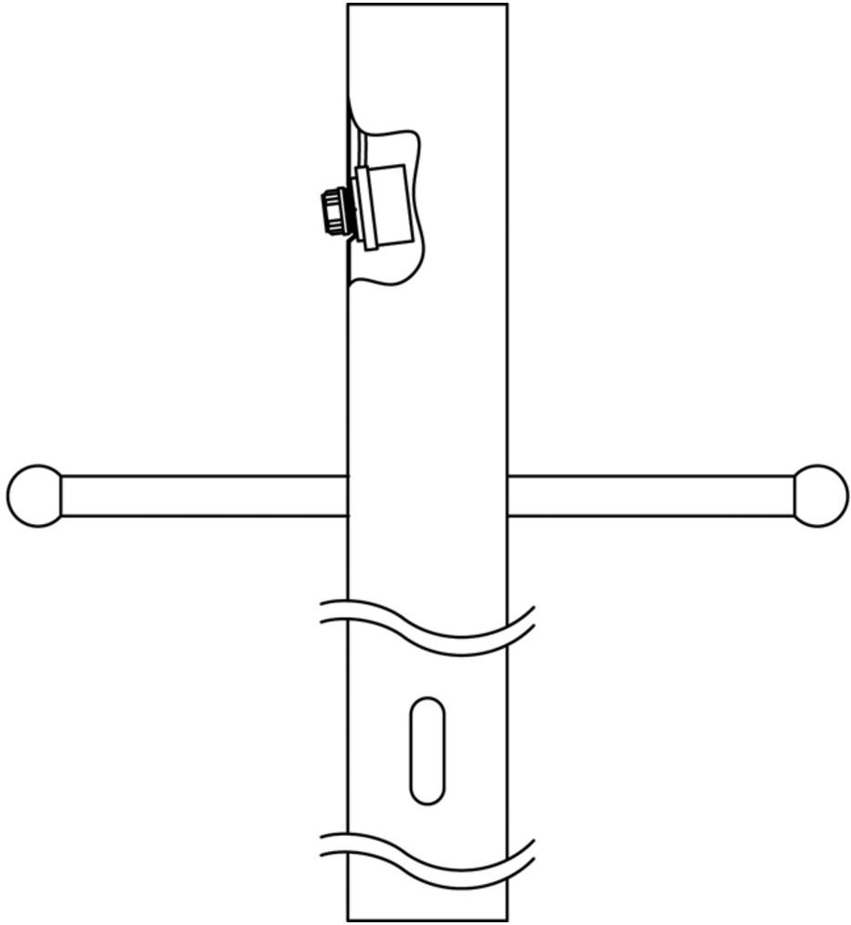Kichler - 9502BK - Black 84 Inch Post with Photocell & Ladder