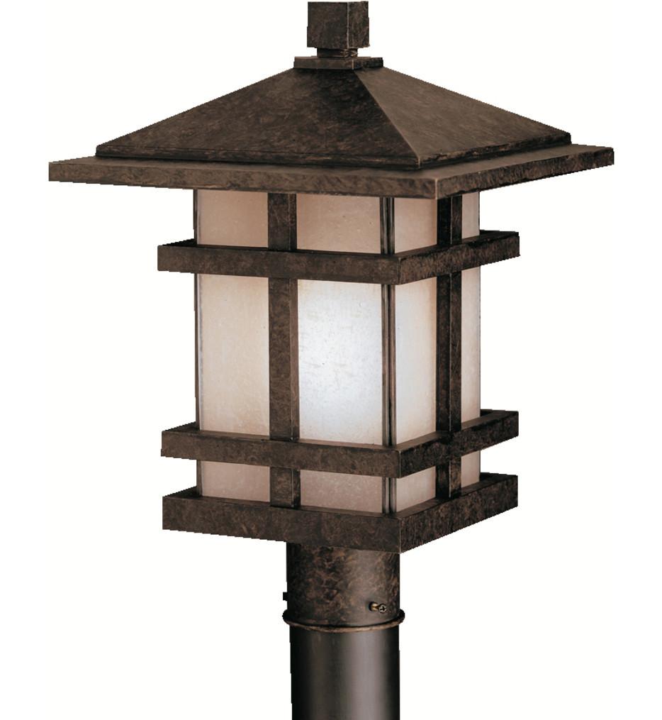 Kichler - 9529AGZ - Cross Creek Aged Bronze 11.5 Inch 1 Light Outdoor Post Lantern