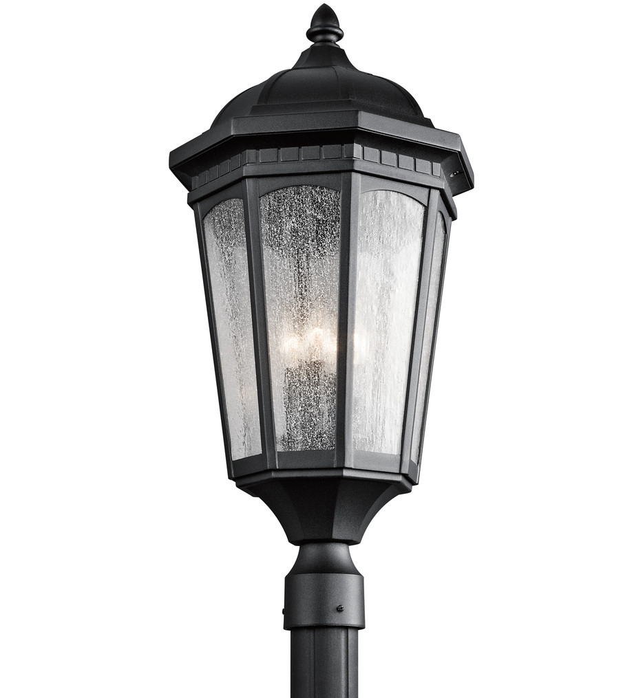Kichler - Courtyard 27 Inch 3 Light Outdoor Post Lantern