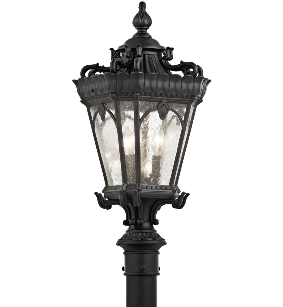 Kichler - Tournai 3 Light Outdoor Post Lantern