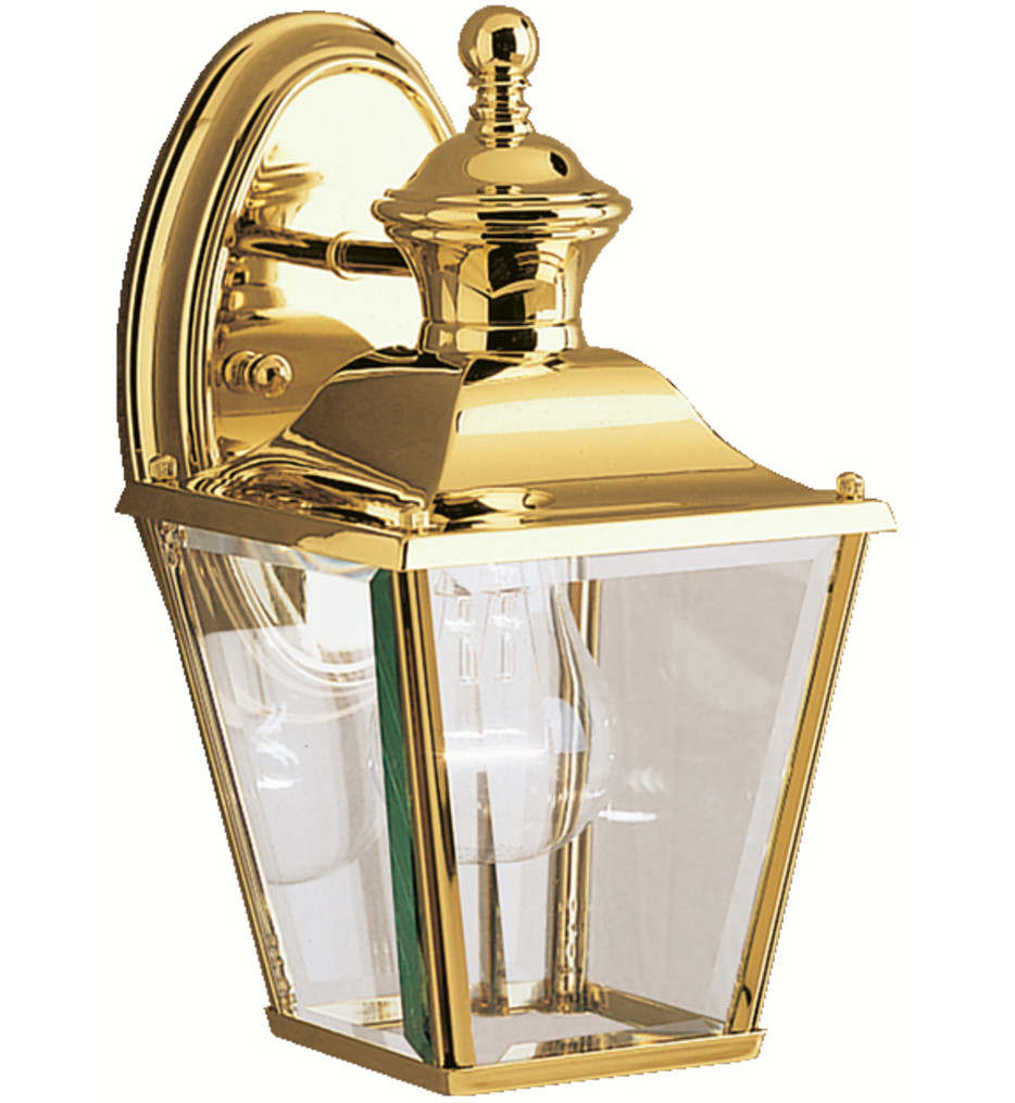 Kichler - 9711PB - Bay Shore Polished Brass 5.75 Inch 1 Light Outdoor Wall Sconce