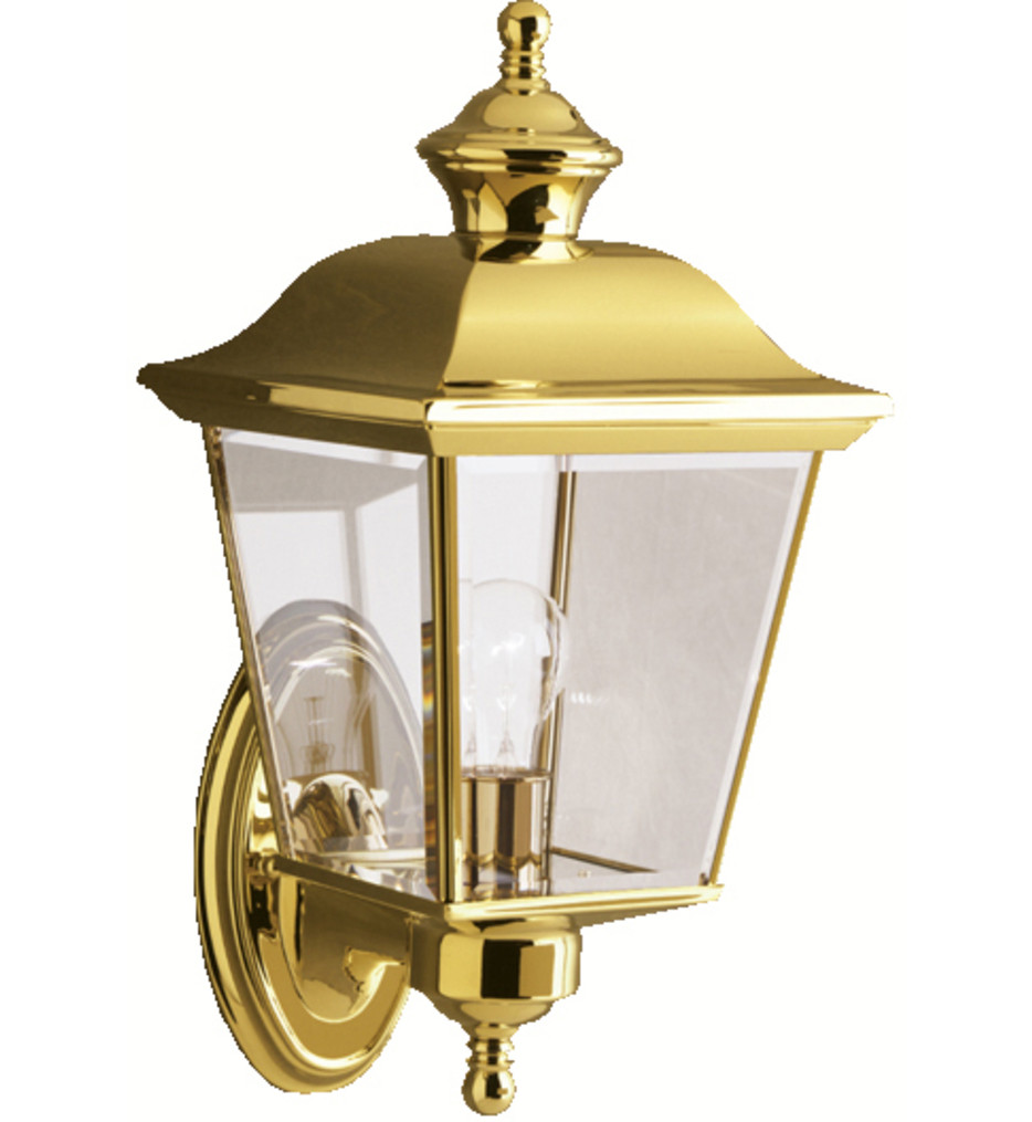 Kichler - 9712PB - Bay Shore Polished Brass 7 Inch 1 Light Outdoor Wall Sconce
