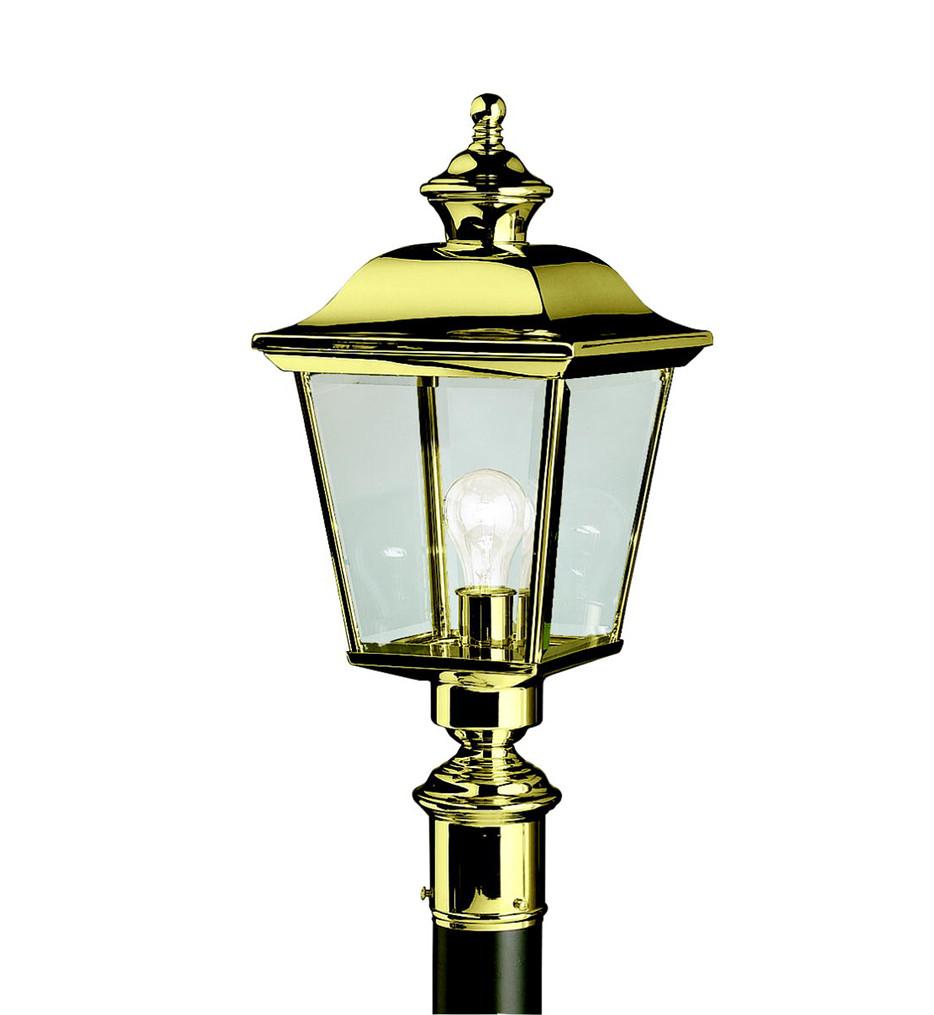 Kichler - 9913PB - Bay Shore Polished Brass 9.5 Inch 1 Light Outdoor Post Lantern