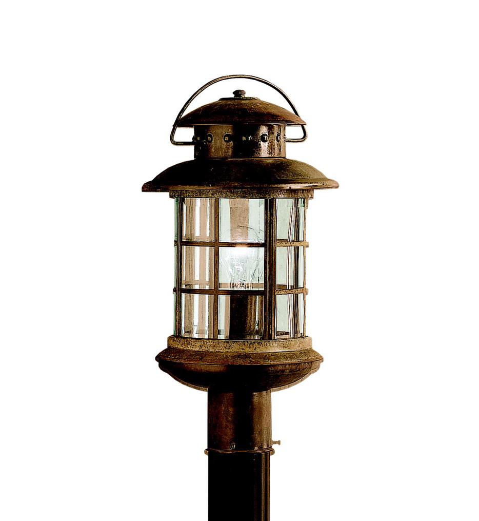 Kichler - 9962RST - Rustic Rustic 9.5 Inch 1 Light Outdoor Post Lantern
