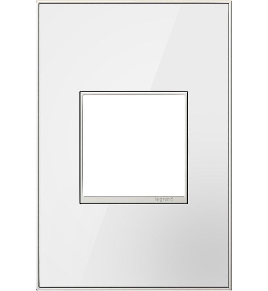 Legrand Adorne - Mirror White Wall Plate