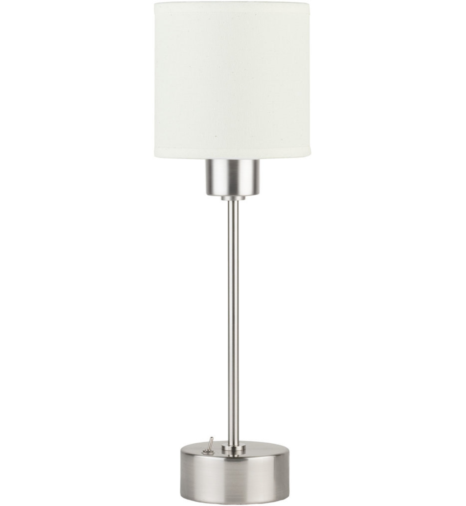 Lights Up! - CanCan Brushed Nickel 11 Inch Table Lamp