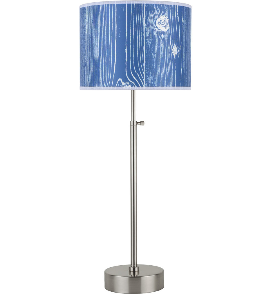 Lights Up! - CanCan Brushed Nickel 21-34 Inch Adjustable Table Lamp