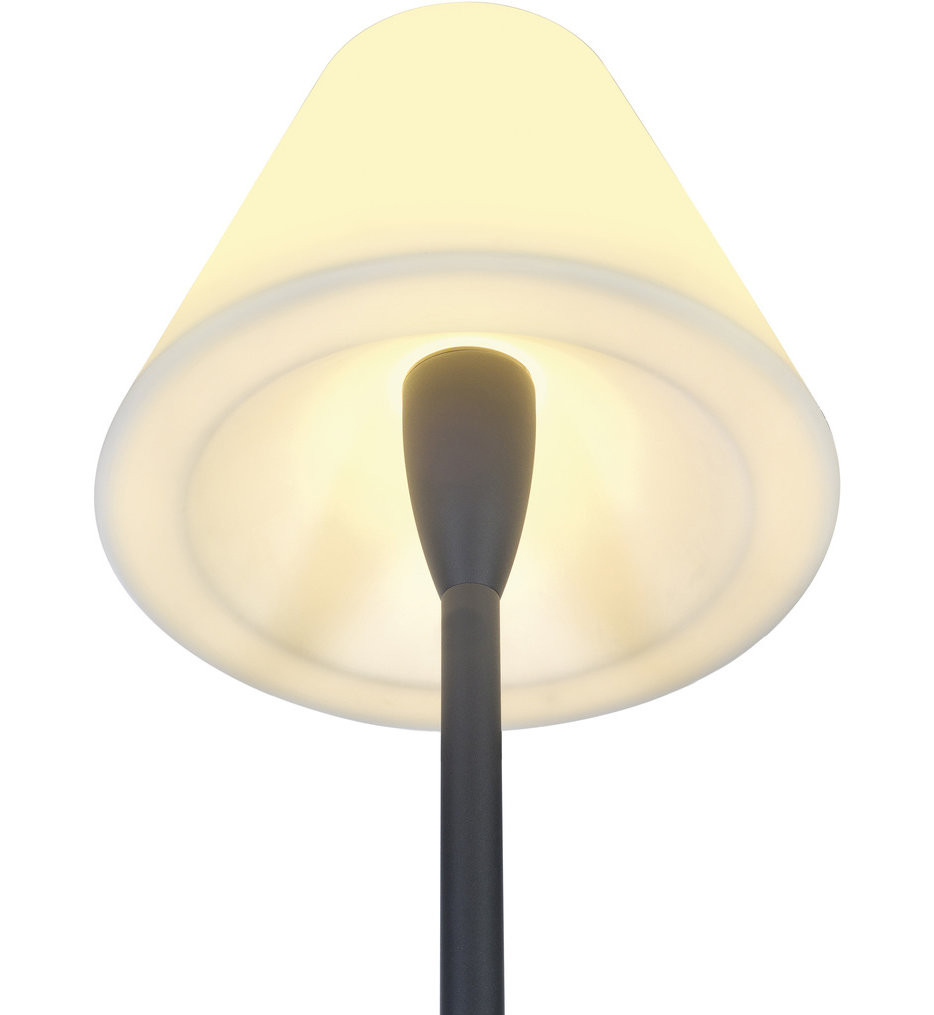 Lights Up! - 800AN-POL - Beach Outdoor Floor Lamp in Anthracite Finish with White Polycarbonate Shade