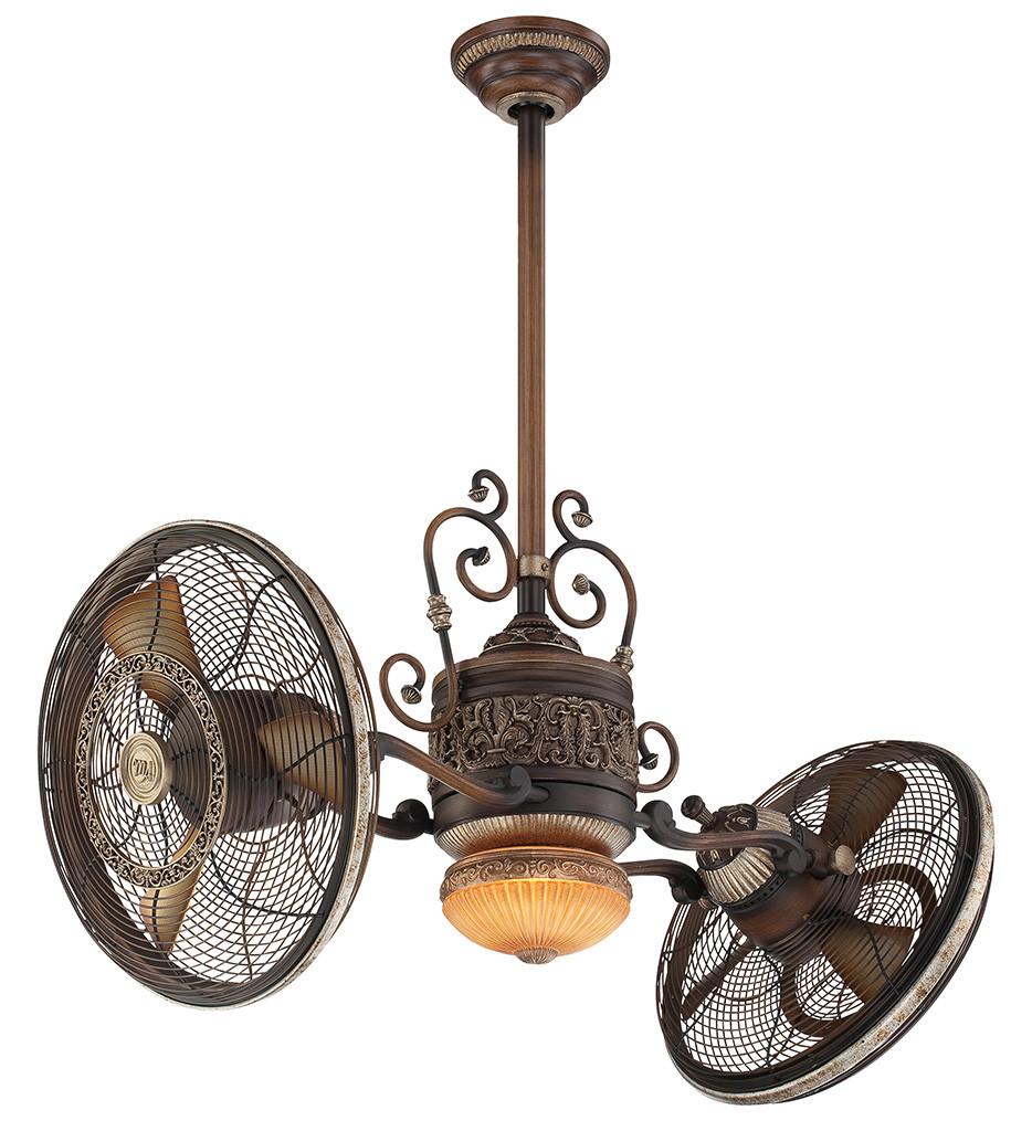 Minka-Aire - F502-BCW - Traditional Gyro 42 Inch Belcaro Walnut Ceiling Fan