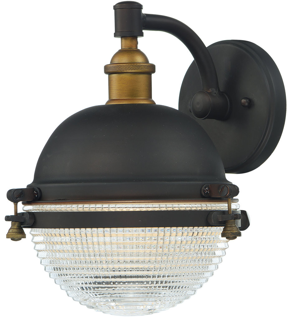 Maxim Lighting - 10182OIAB - Portside Oil Rubbed Bronze/Antique Brass 11 Inch Outdoor Wall Mount