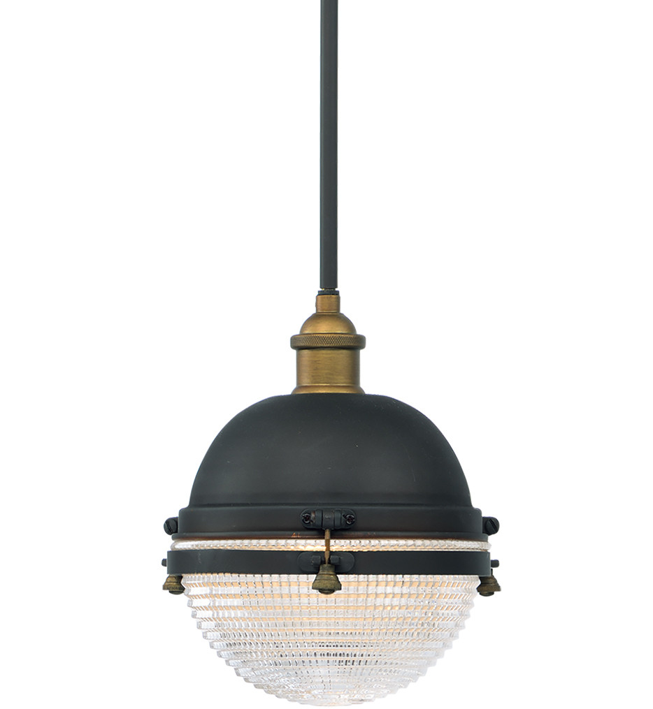 Maxim Lighting - 10184OIAB - Portside Oil Rubbed Bronze/Antique Brass 10 Inch Outdoor Hanging Lantern