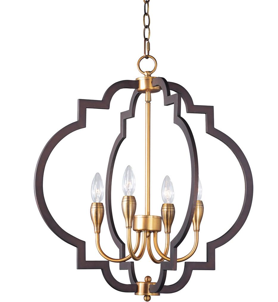 Maxim Lighting - 20293OIAB - Crest Oil Rubbed Bronze/Antique Brass 4 Light Chandelier