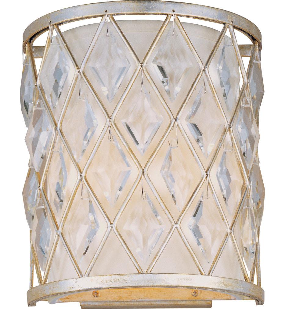 Maxim Lighting - 21458OFGS - Diamond Golden Silver Wall Sconce