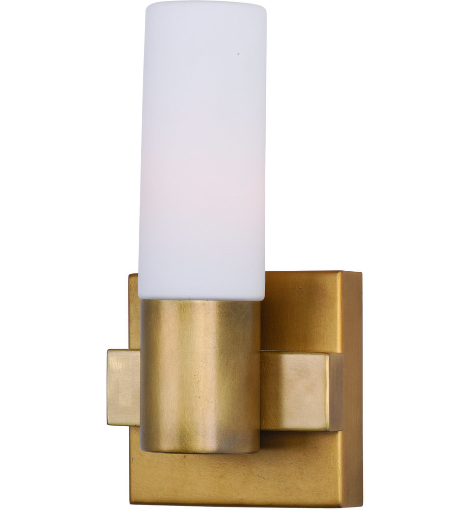 Maxim Lighting - 22411SWNAB - Contessa Natural Aged Brass 1 Light Wall Sconce