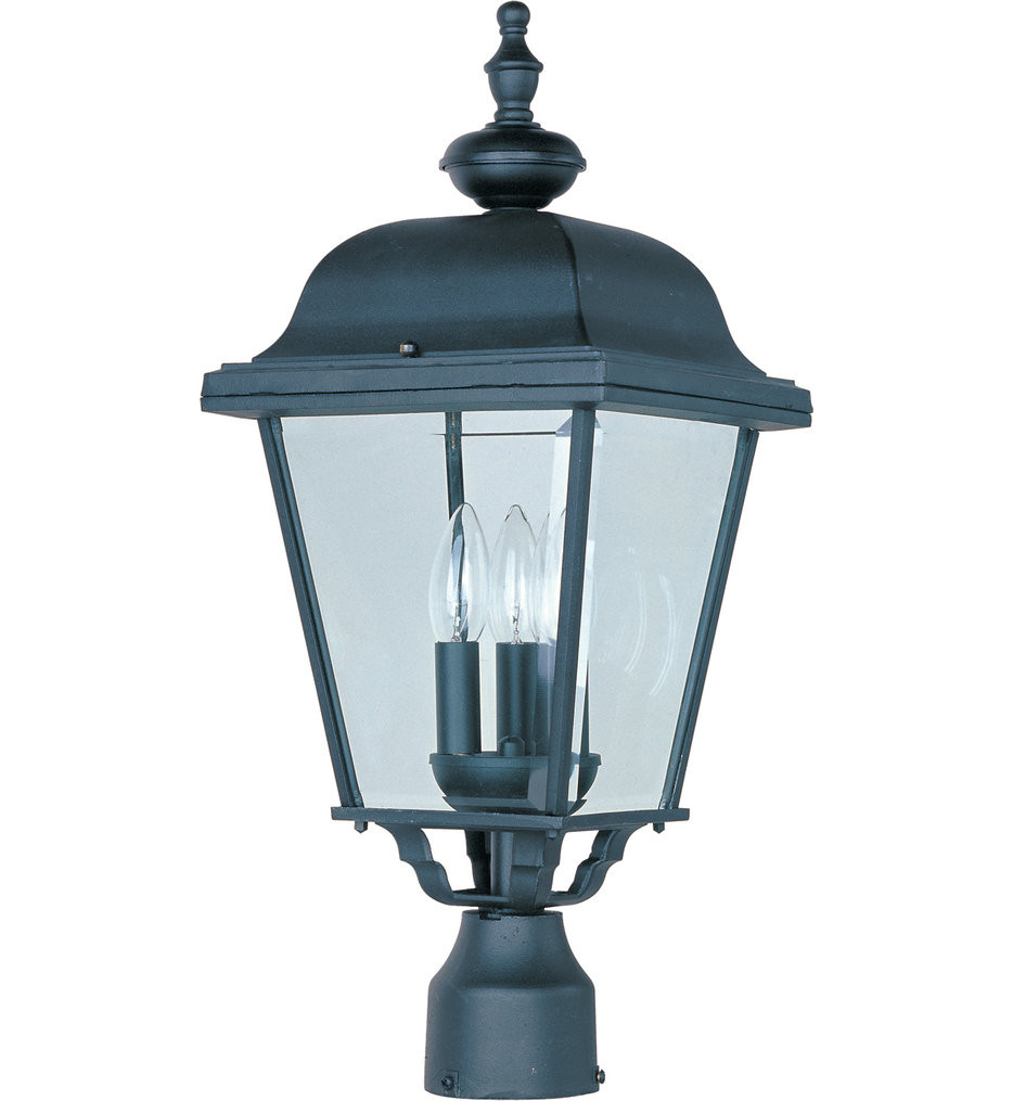 Maxim Lighting - 3008BK - Builder Cast Black Outdoor Post Light