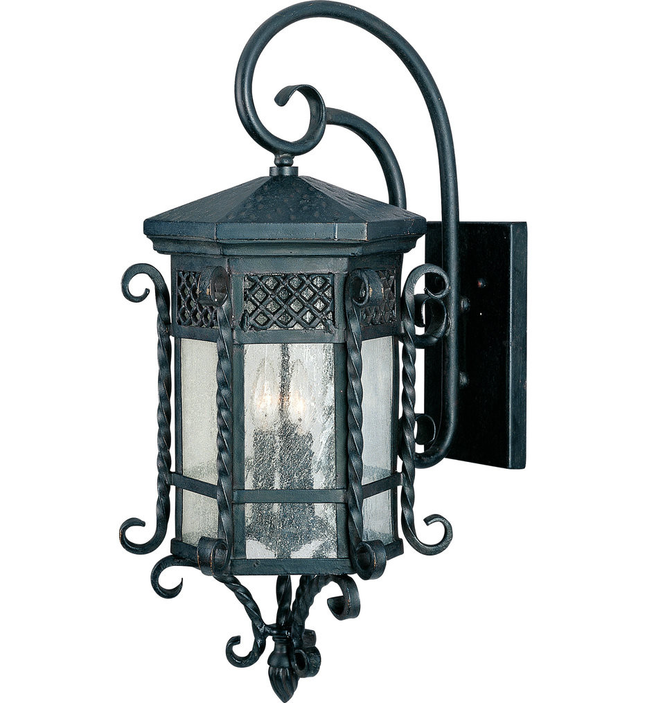 Maxim Lighting - 30125CDCF - Scottsdale Country Forge 28 Inch Outdoor Wall Mount