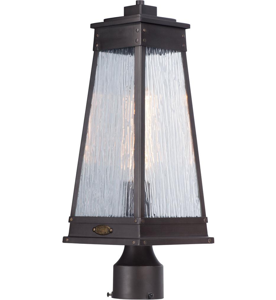 Maxim Lighting - 3041RPOLB - Schooner Olde Brass 1 Light Outdoor Post Lantern