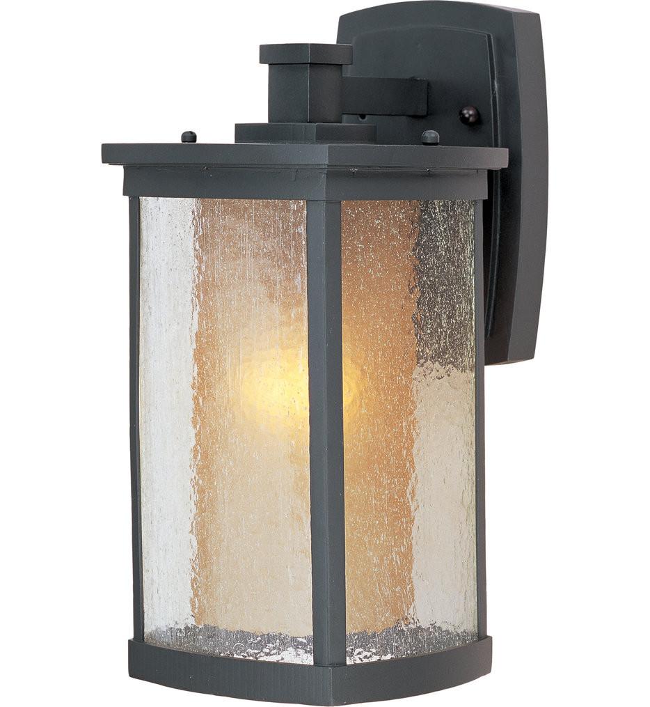 Maxim Lighting - Bungalow Bronze 13.75 Inch 1 Light Outdoor Wall Mount