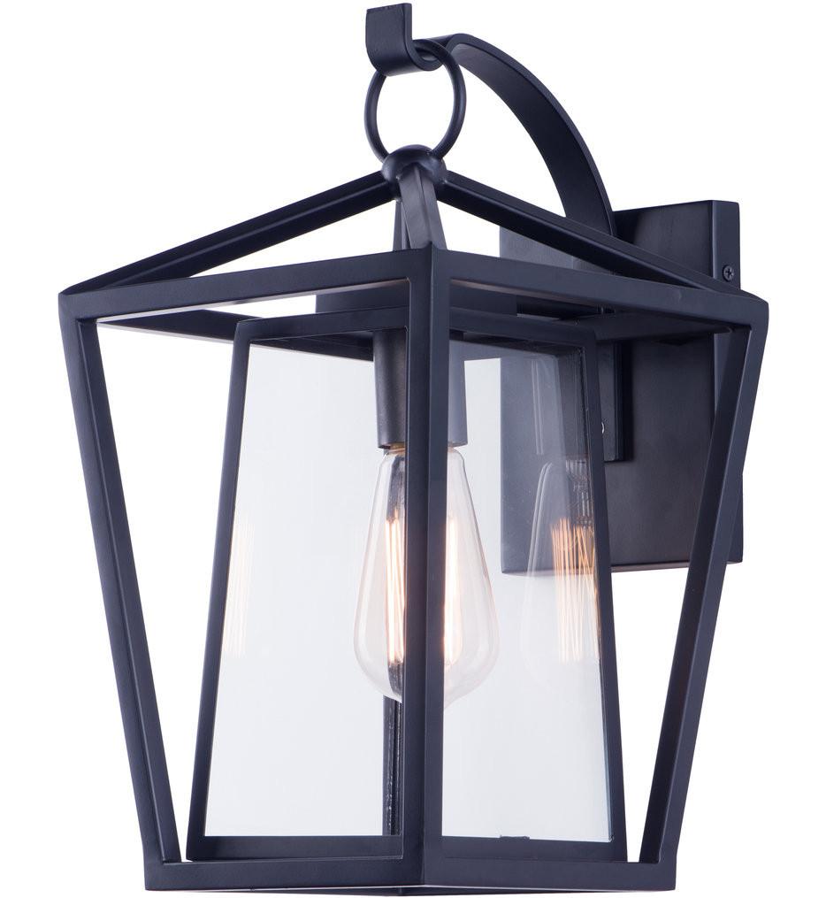 Maxim Lighting - 3175CLBK - Artisan Black 15.75 Inch 1 Light Outdoor Wall Mount
