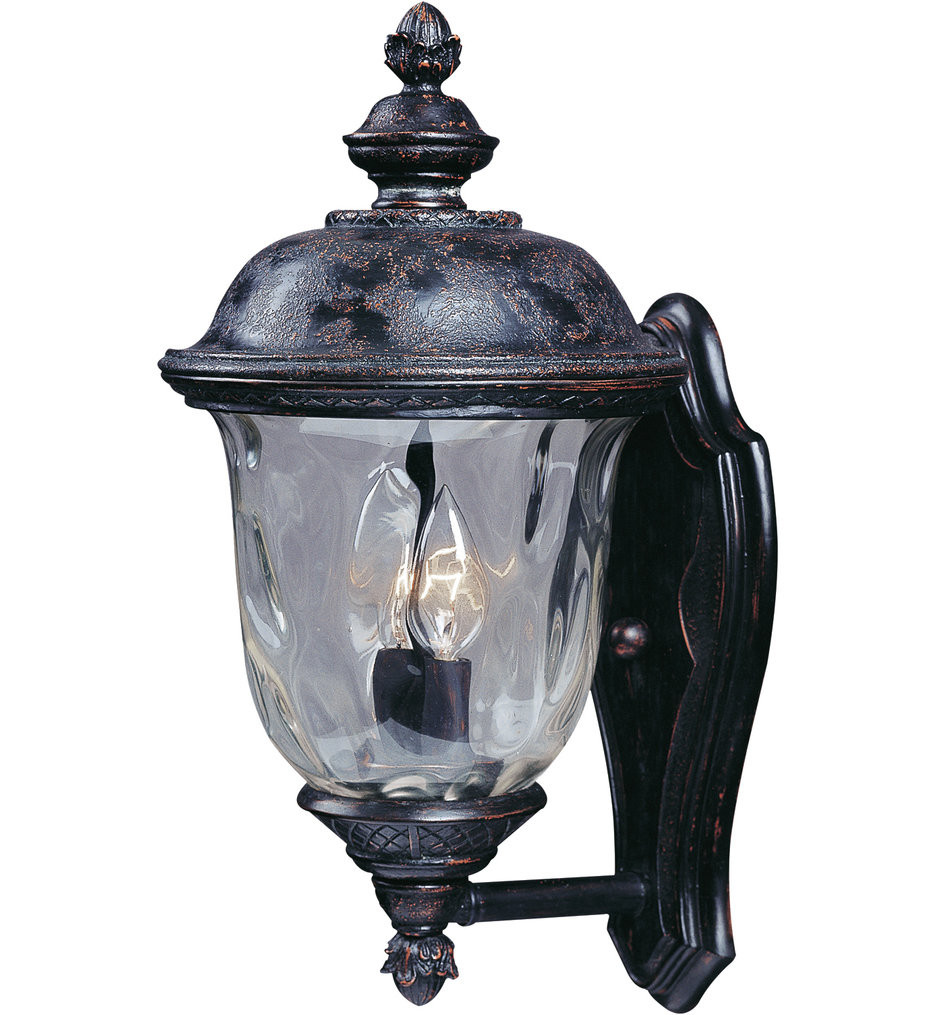 Maxim Lighting - 3422WGOB - Carriage House Oriental Bronze 16 Inch 2 Light Incandescent Outdoor Wall Mount