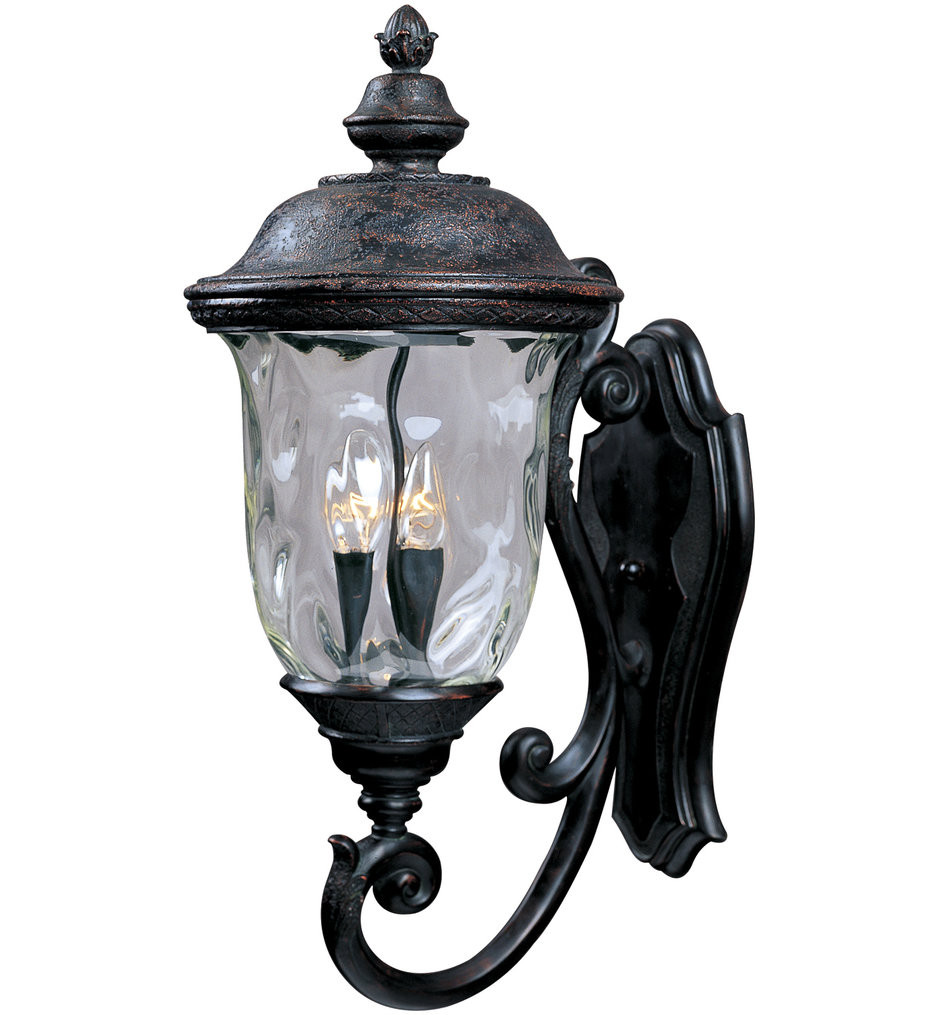 Maxim Lighting - 3424WGOB - Carriage House Oriental Bronze 26.5 Inch 3 Light Incandescent Outdoor Wall Mount