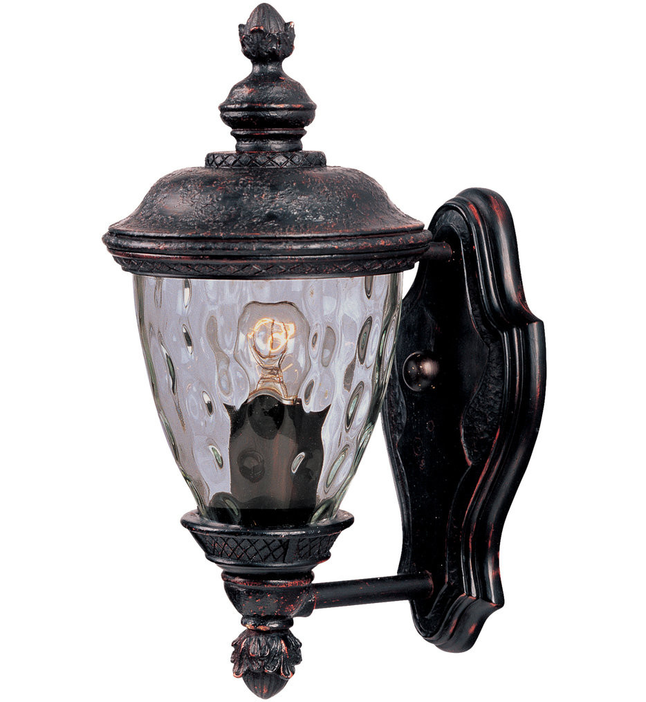 Maxim Lighting - 3495WGOB - Carriage House Oriental Bronze 12.5 Inch 1 Light Incandescent Outdoor Wall Mount