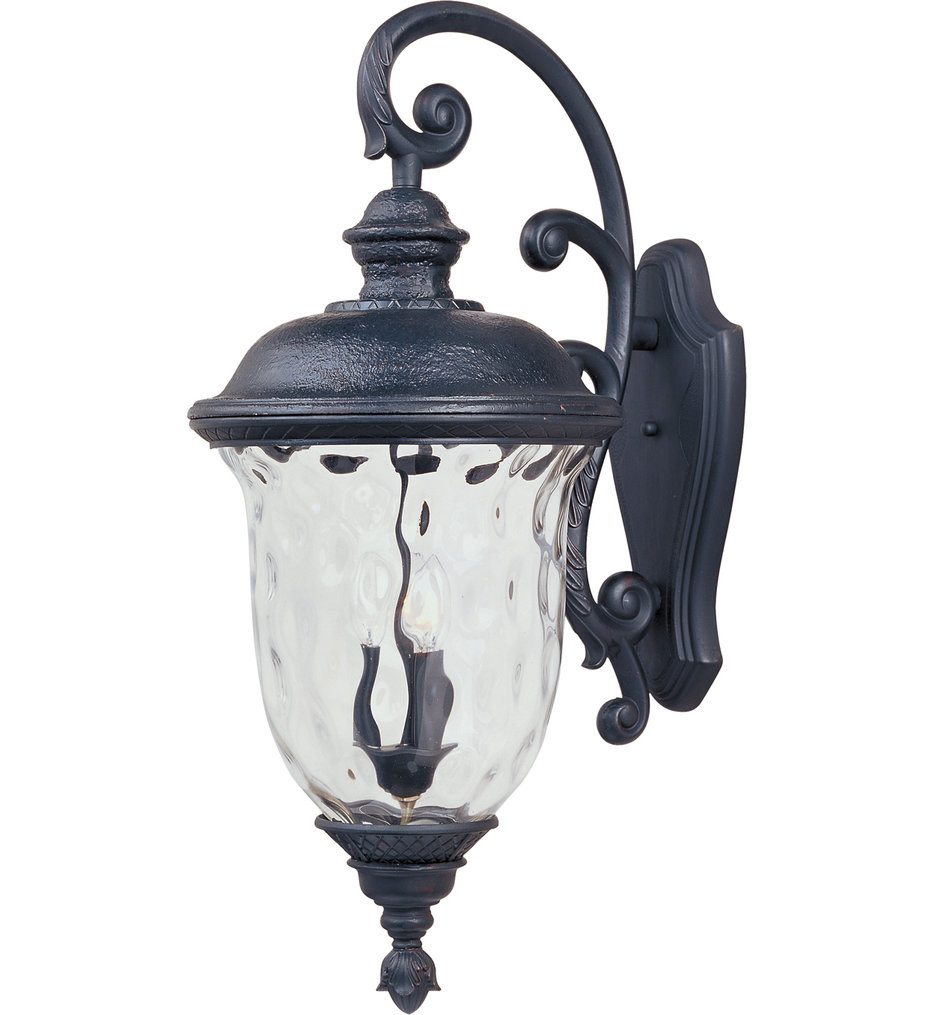 Maxim Lighting - 3498WGOB - Carriage House Oriental Bronze 31 Inch 3 Light Incandescent Outdoor Wall Mount