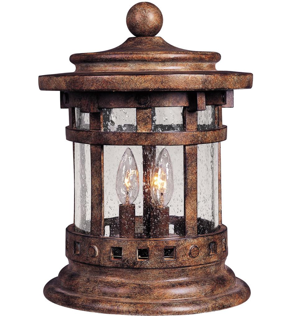 Maxim Lighting - 40032CDSE - Santa Barbara Sienna 15 Inch 3 Light Incandescent Outdoor Deck Lantern