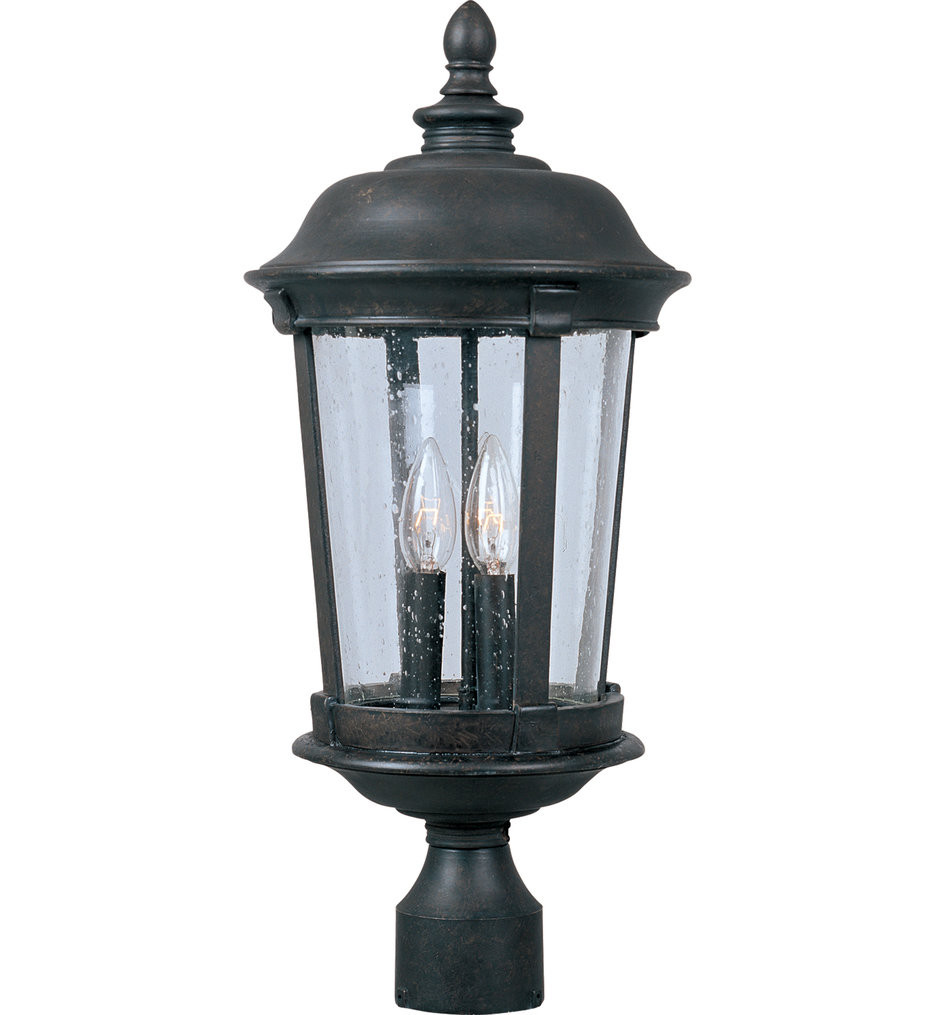Maxim Lighting - 40092CDBZ - Dover Bronze 25.5 Inch 3 Light Incandescent Outdoor Post Light