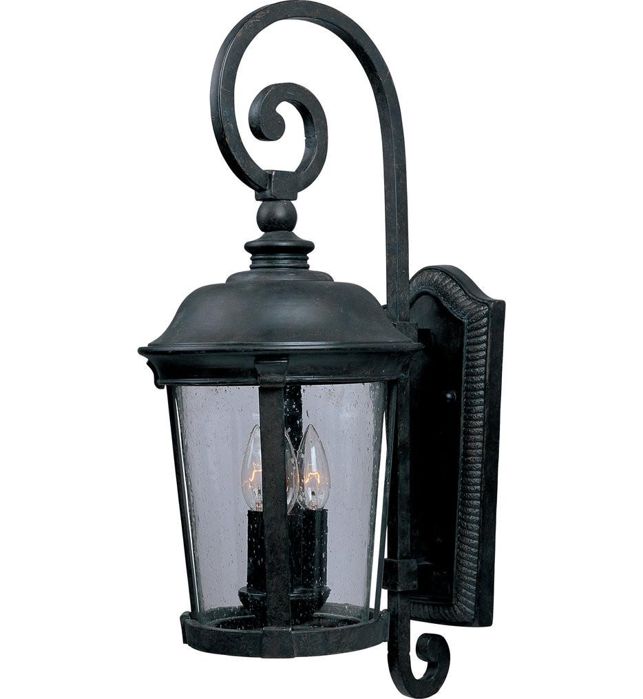 Maxim Lighting - 40095CDBZ - Dover Bronze 31.5 Inch 3 Light Incandescent Outdoor Wall Mount
