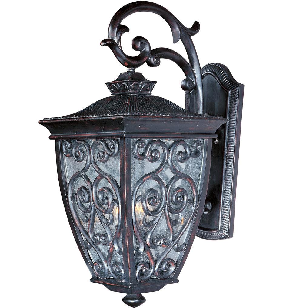 Maxim Lighting - 40125CDOB - Newbury Oriental Bronze 25 Inch 3 Light Outdoor Wall Mount