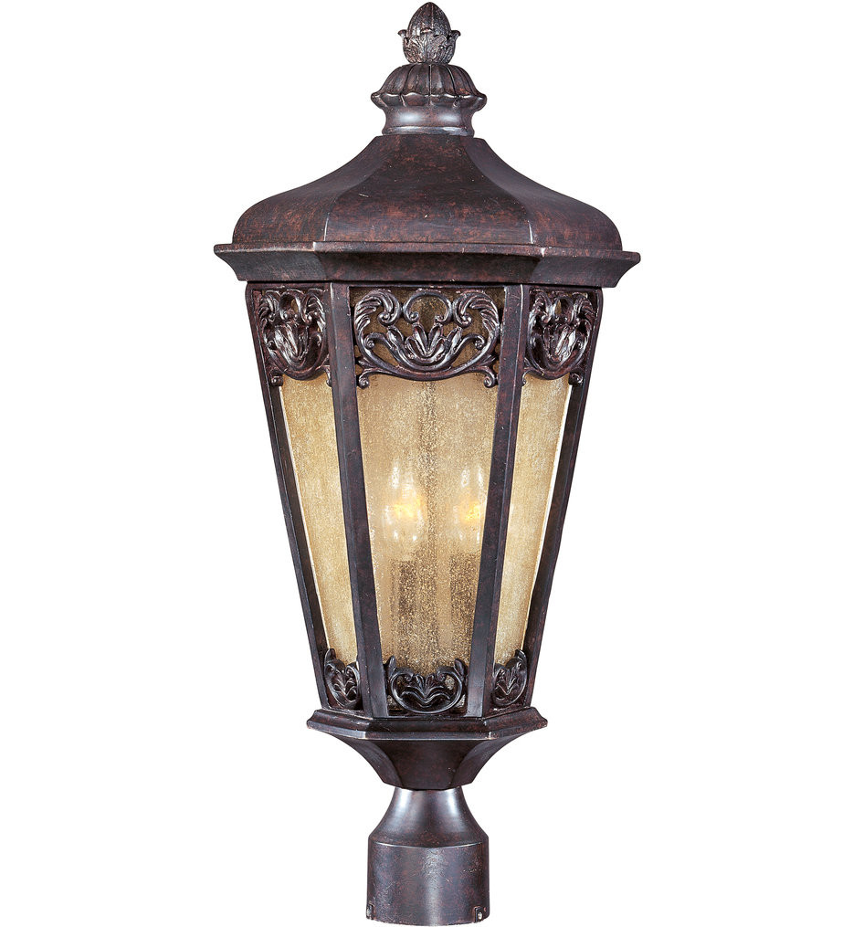 Maxim Lighting - 40170NSCU - Lexington Colonial Umber 3 Light Outdoor Post Light