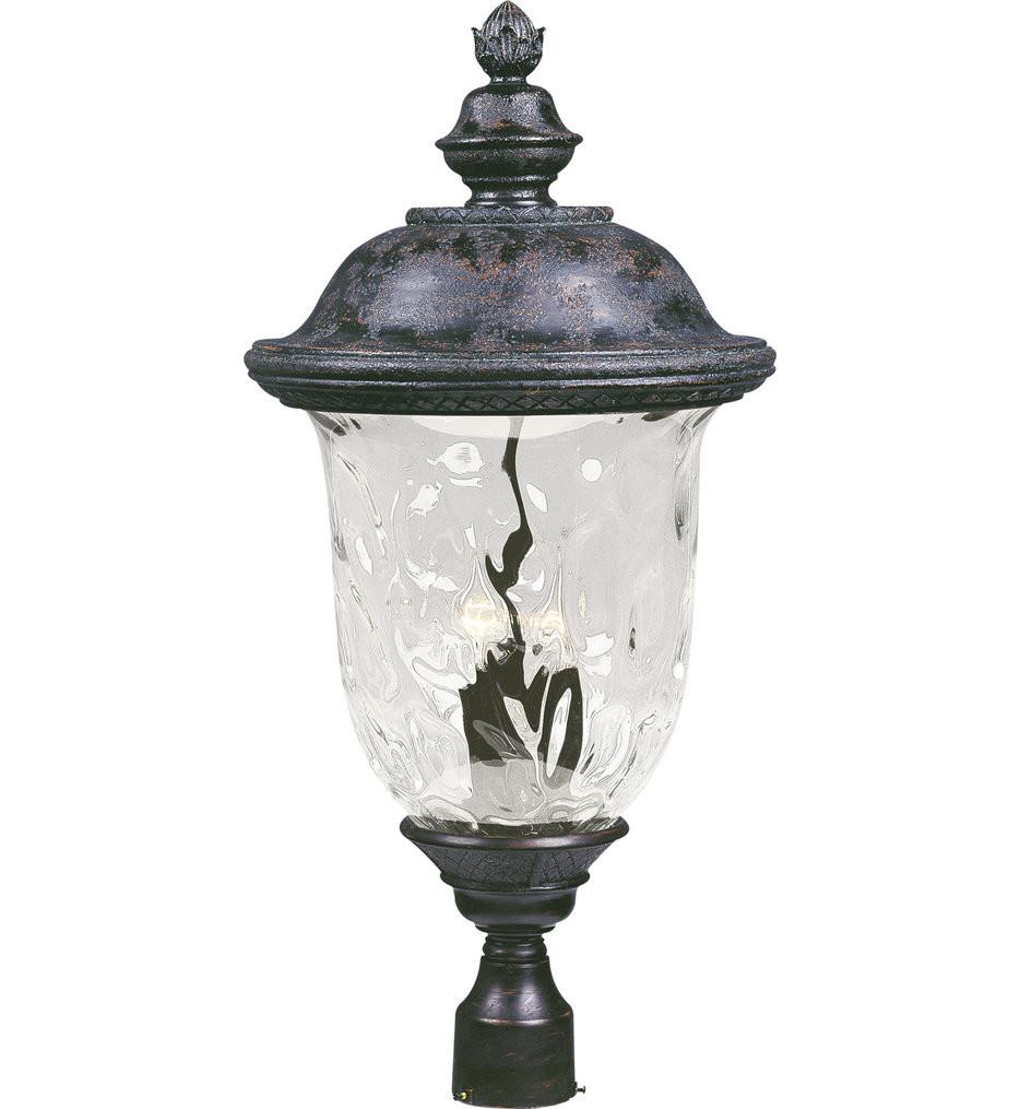 Maxim Lighting - 40421WGOB - Carriage House Oriental Bronze 29 Inch 3 Light Incandescent Outdoor Post Light
