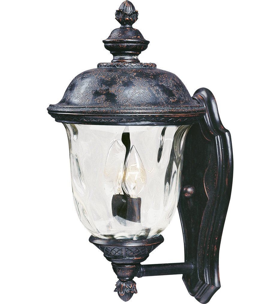 Maxim Lighting - 40422WGOB - Carriage House Oriental Bronze 16 Inch 2 Light Incandescent Outdoor Wall Mount