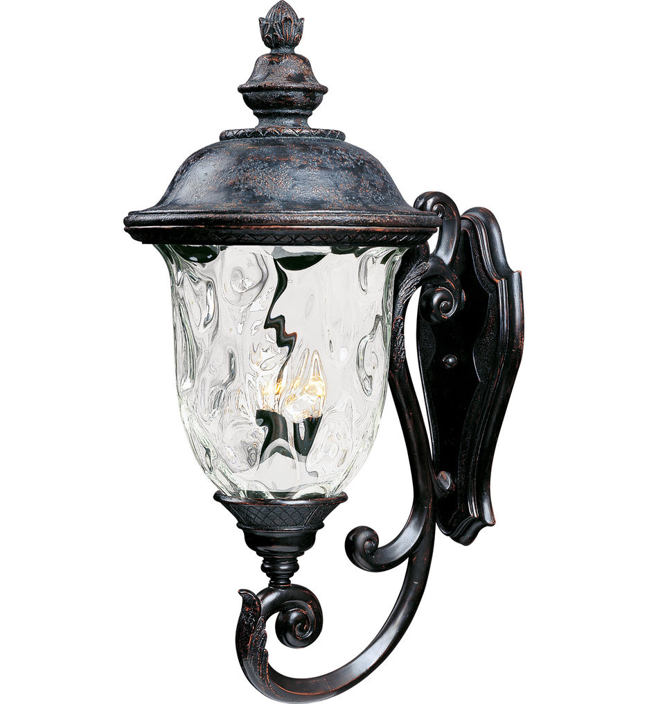 Maxim Lighting - 40425WGOB - Carriage House Oriental Bronze 31 Inch 3 Light Incandescent Outdoor Wall Mount