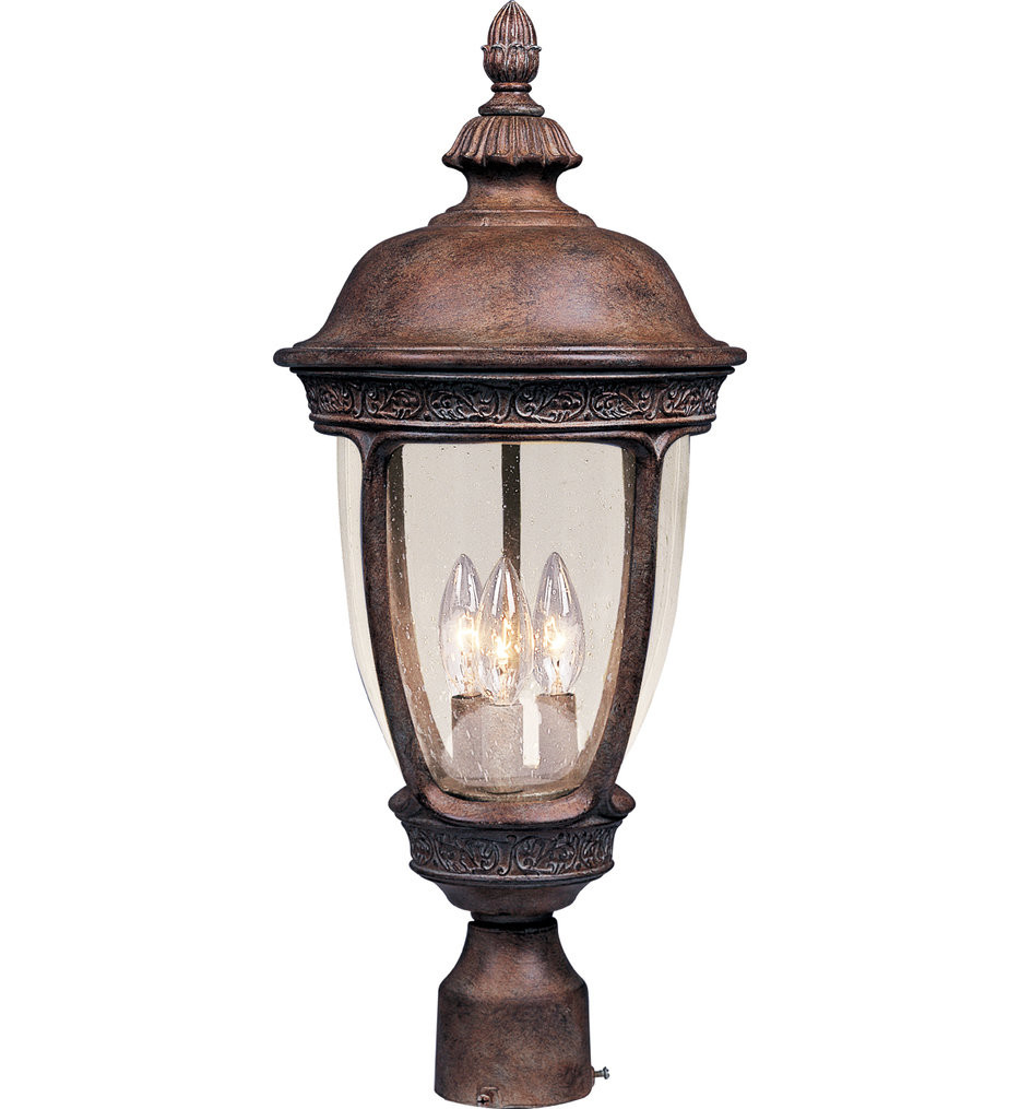 Maxim Lighting - 40461CDSE - Knob Hill Sienna Incandescent 3 Light Outdoor Post Light
