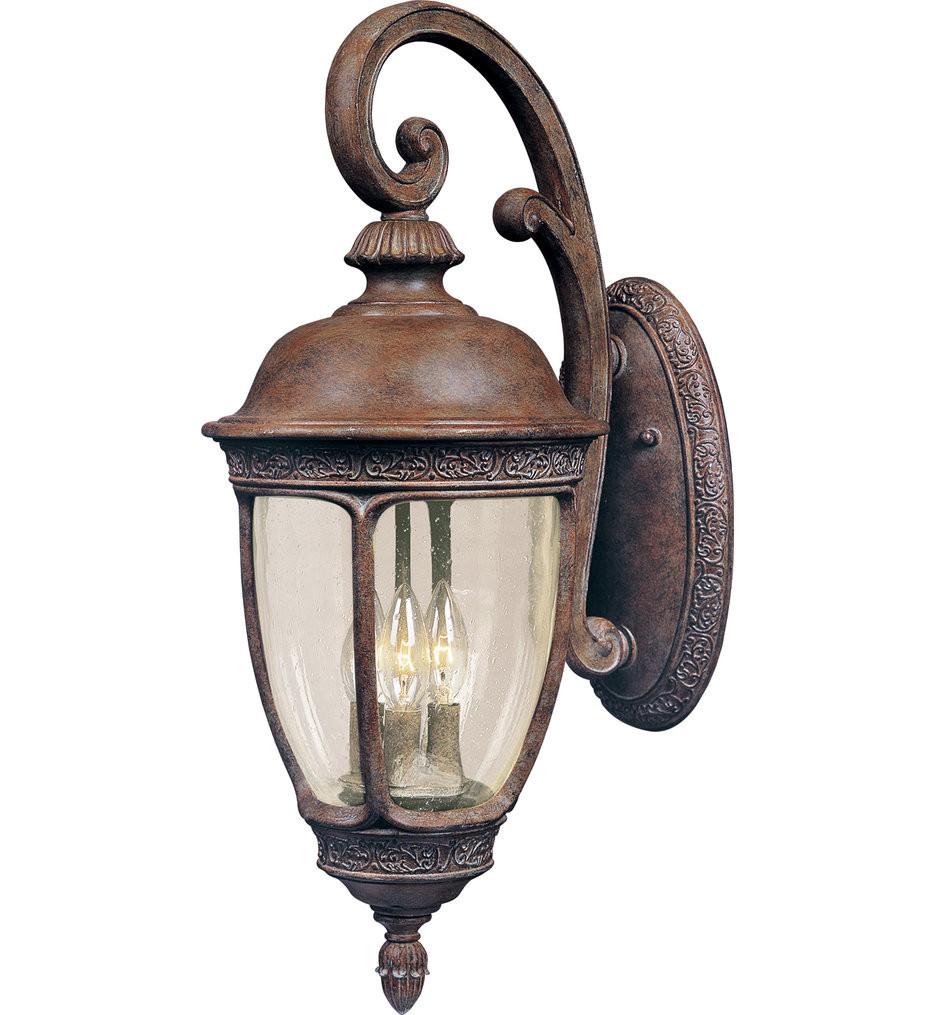 Maxim Lighting - 40466CDSE - Knob Hill Sienna Incandescent 3 Light Outdoor Wall Sconce