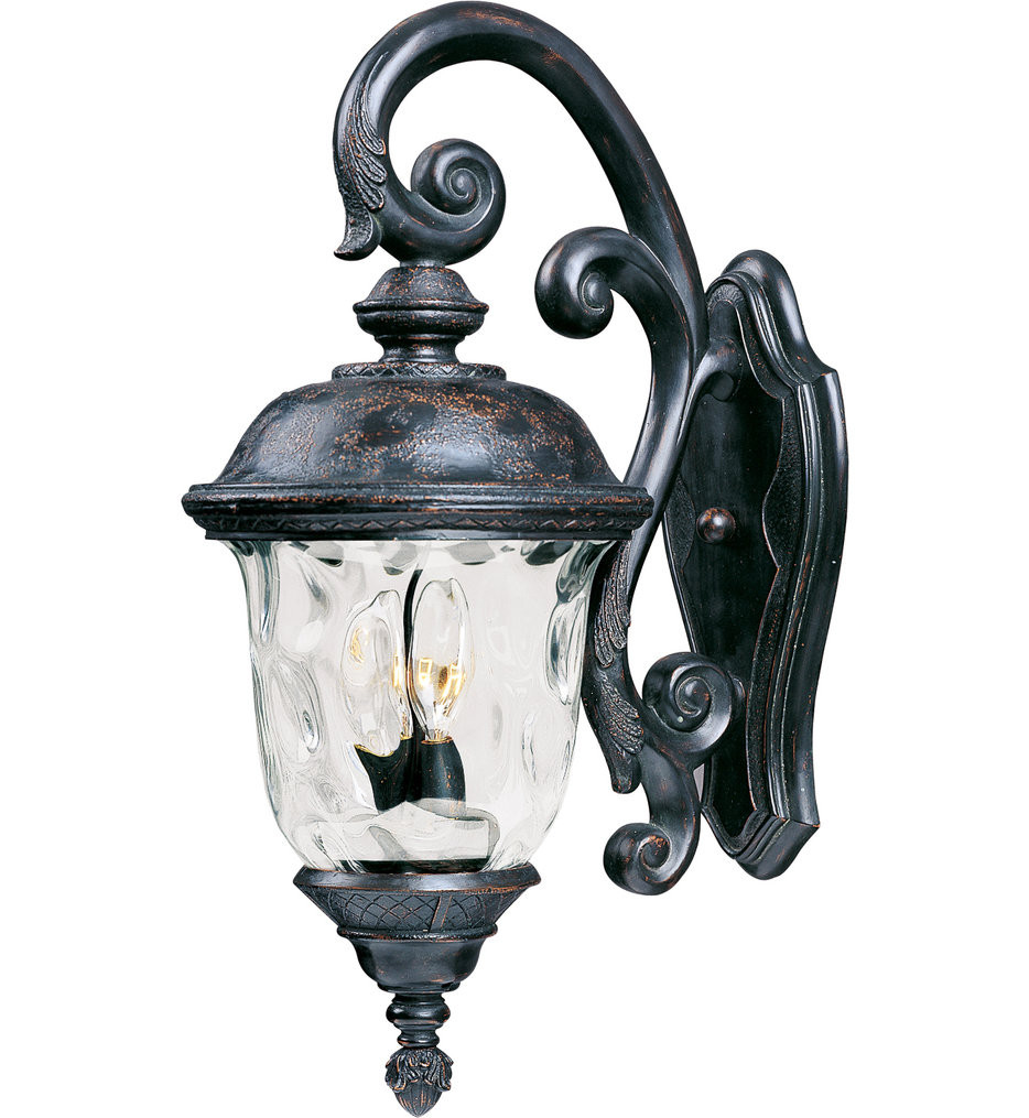 Maxim Lighting - 40497WGOB - Carriage House Oriental Bronze 26.5 Inch 3 Light Incandescent Outdoor Wall Mount