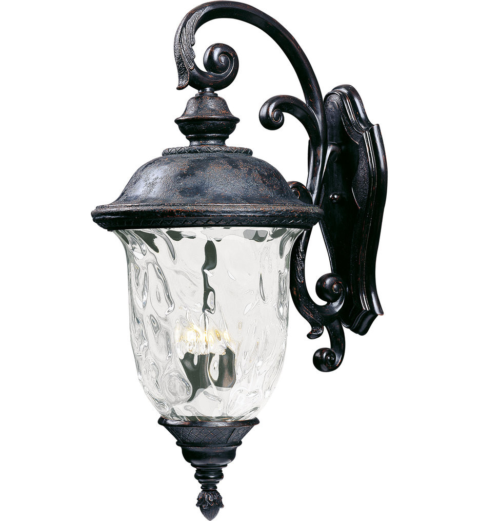 Maxim Lighting - 40498WGOB - Carriage House Oriental Bronze 31 Inch 3 Light Incandescent Outdoor Wall Mount