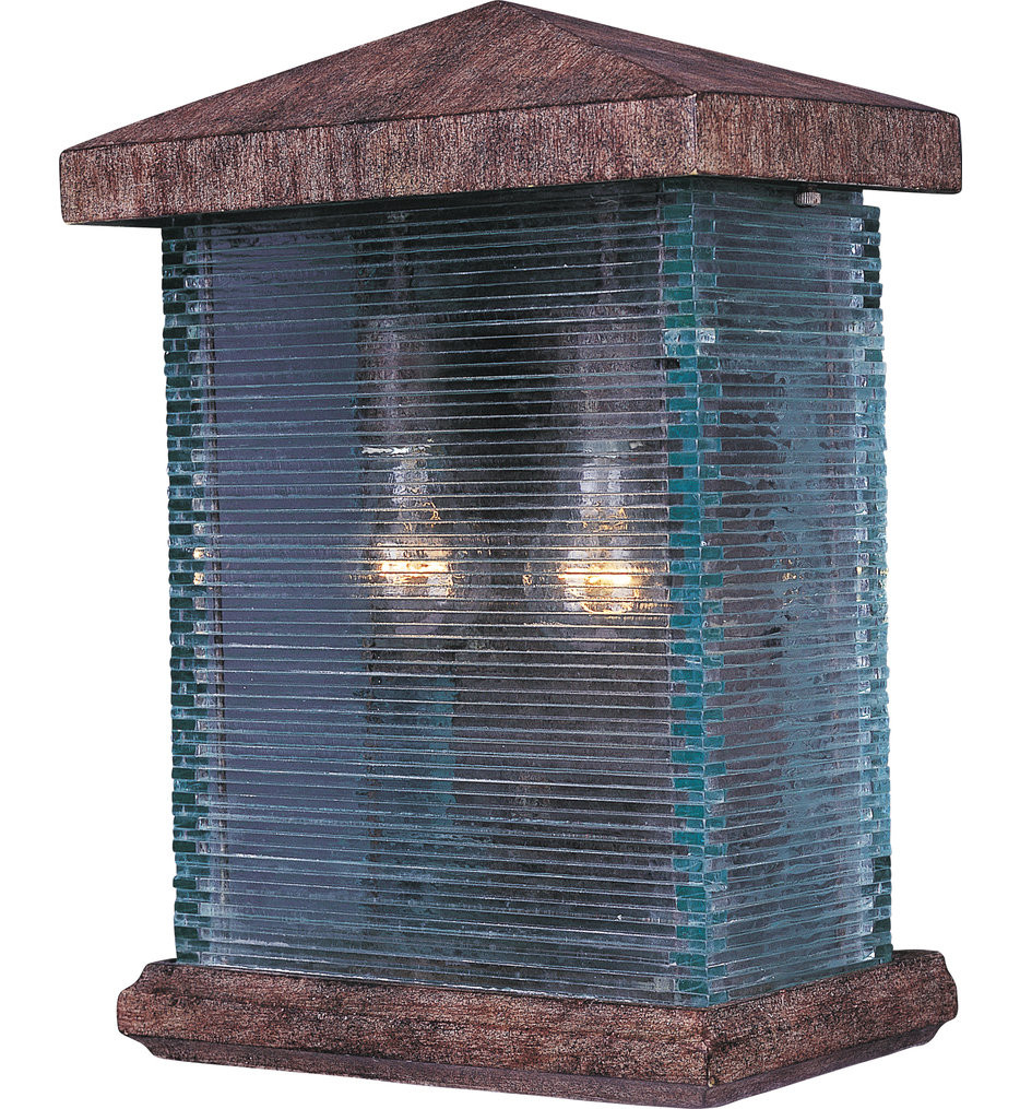 Maxim Lighting - 48734CLET - Triumph VX Earth Tone 16.5 Inch Outdoor Wall Sconce