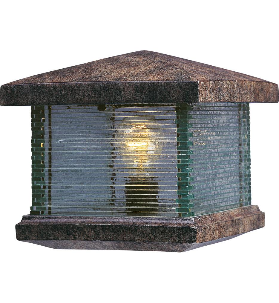 Maxim Lighting - 48736CLET - Triumph VX Earth Tone Outdoor Deck Lantern