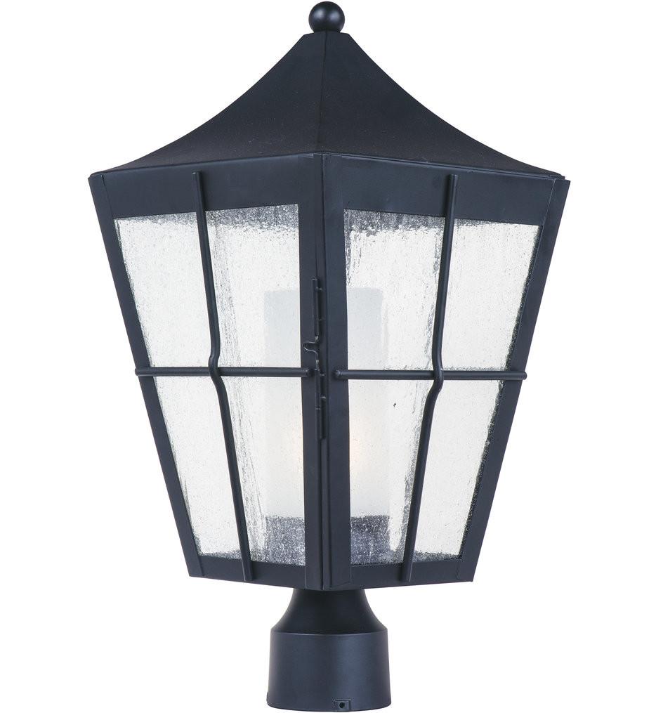 Maxim Lighting - Revere Black 19 Inch Outdoor Post Lantern