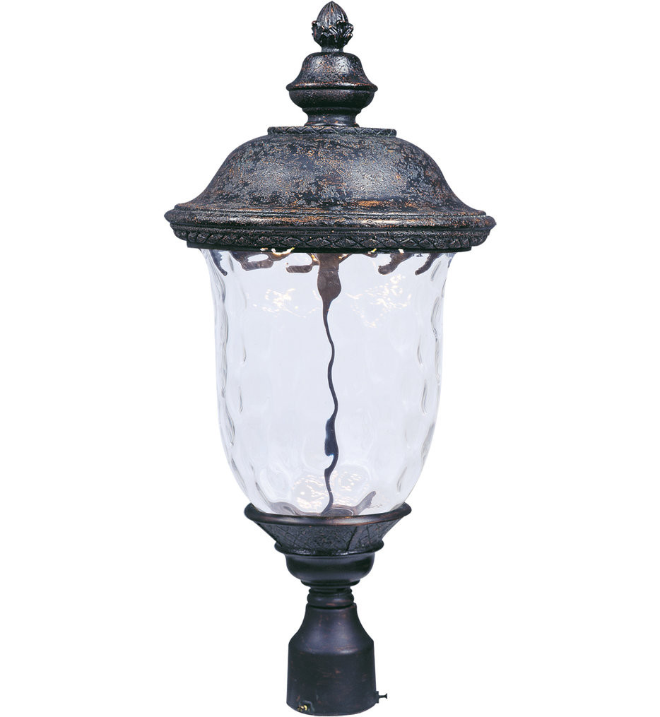 Maxim Lighting - 55420WGOB - Carriage House Oriental Bronze 26.5 Inch 1 Light LED Outdoor Post Light