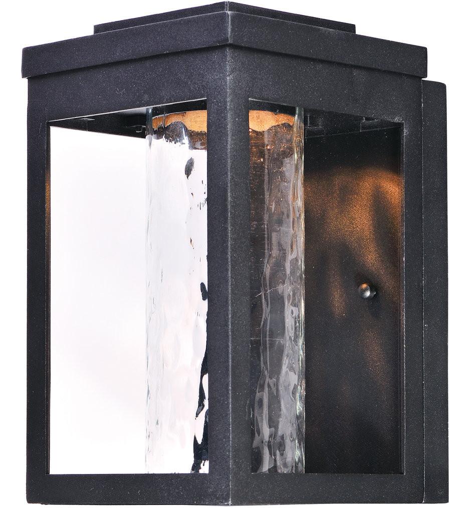 Maxim Lighting - Salon Black 10 Inch Outdoor Wall Mount