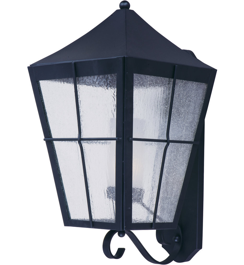 Maxim Lighting - 85338CDFTBK - Revere Black 24 Inch Outdoor Wall Sconce