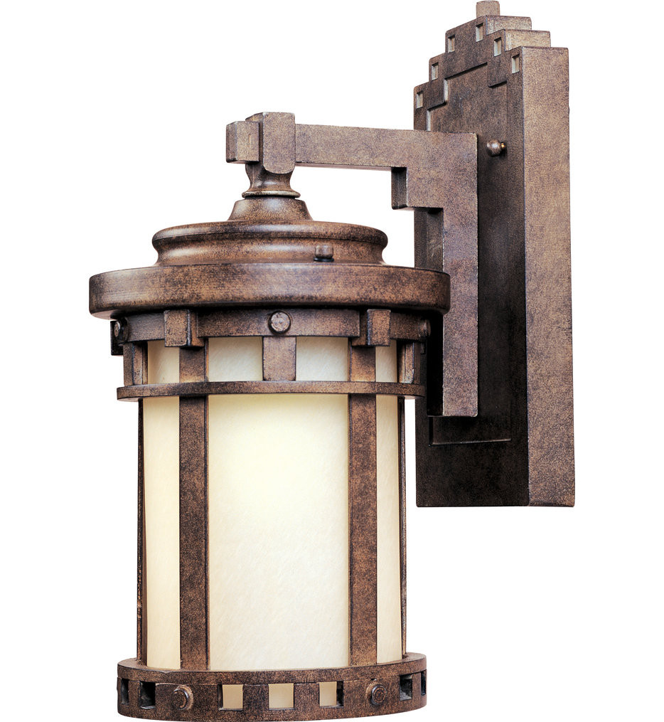 Maxim Lighting - 86031MOSE - Santa Barbara Sienna 10 Inch 1 Light Fluorescent Outdoor Wall Sconce