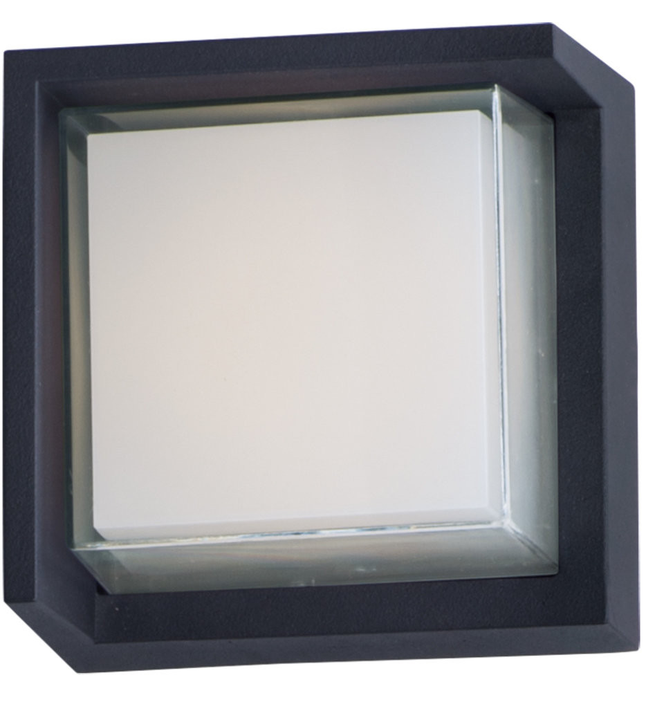 Maxim Lighting - 86163BK - Eyebrow Black 6.25 Inch 1 Light Outdoor Wall Mount